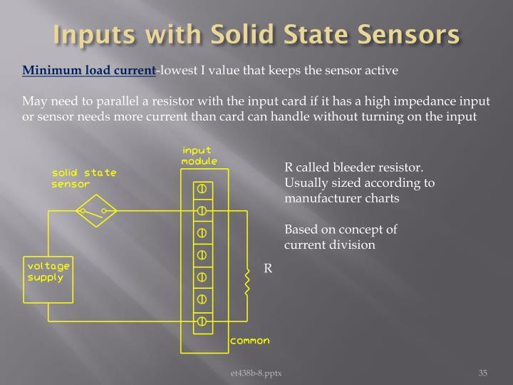 Inputs with Solid State Sensors