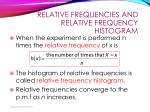relative frequencies and relative frequency histogram