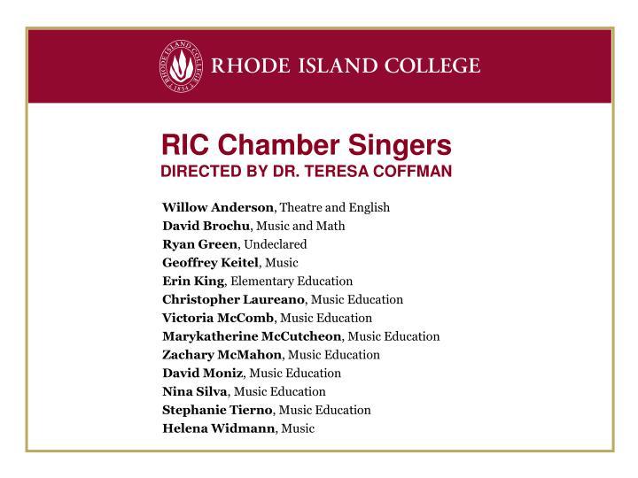 RIC Chamber Singers