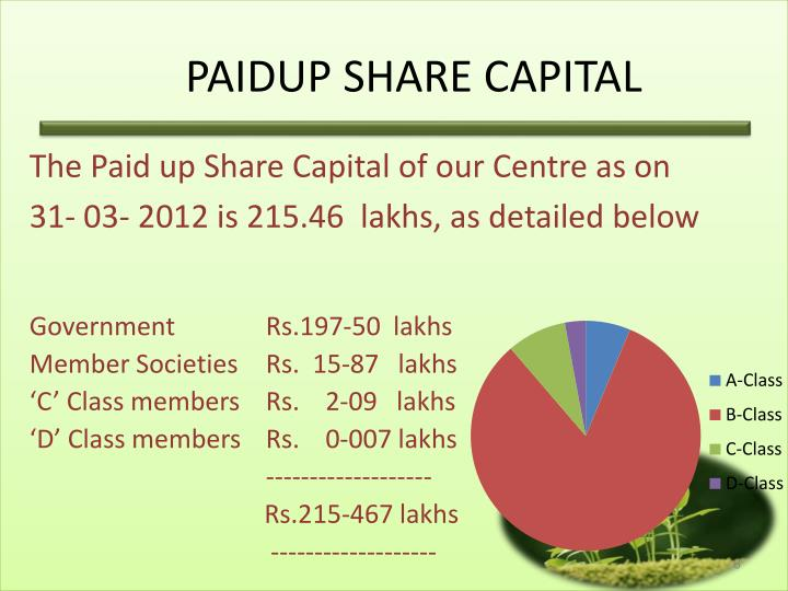PAIDUP SHARE CAPITAL