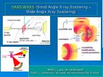 saxs waxs small angle x ray scattering wide angle xray scattering