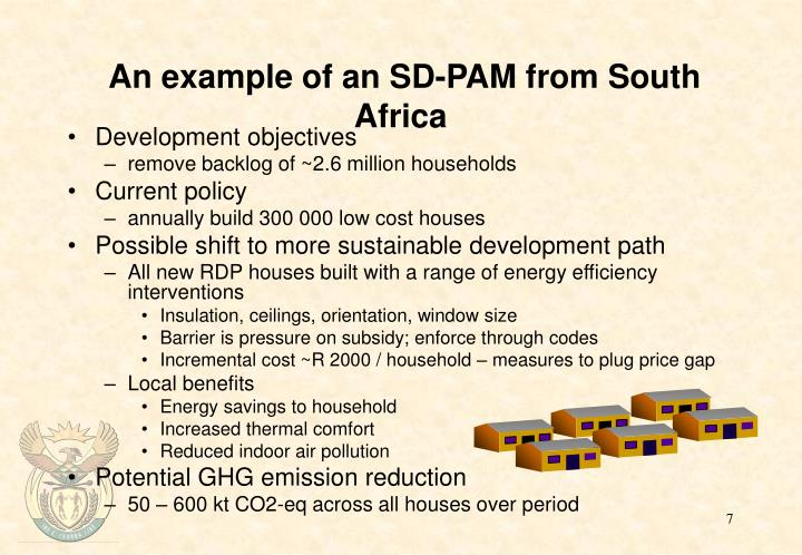An example of an SD-PAM from South Africa