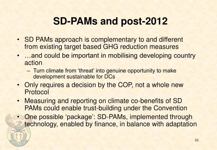 SD-PAMs and post-2012