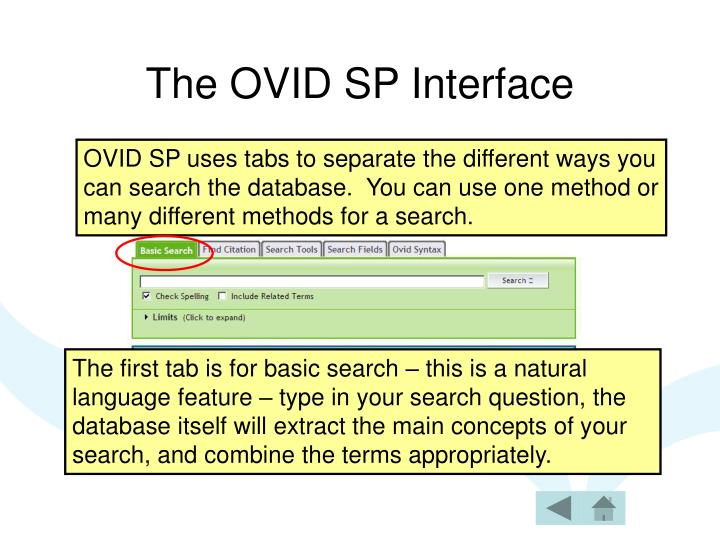 The OVID SP Interface