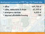 development summary at ww twp nj transit sites