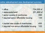 entire redevelopment area development summary