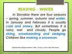 reading winter
