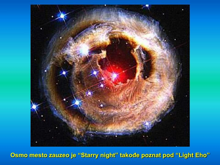 "Osmo mesto zauzeo je ""Starry night"" takođe poznat pod ""Light Eho"""