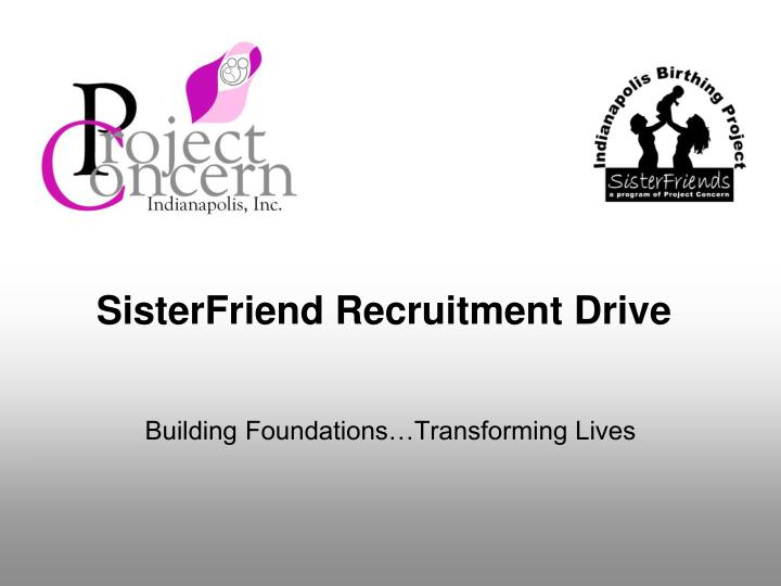 sisterfriend recruitment drive