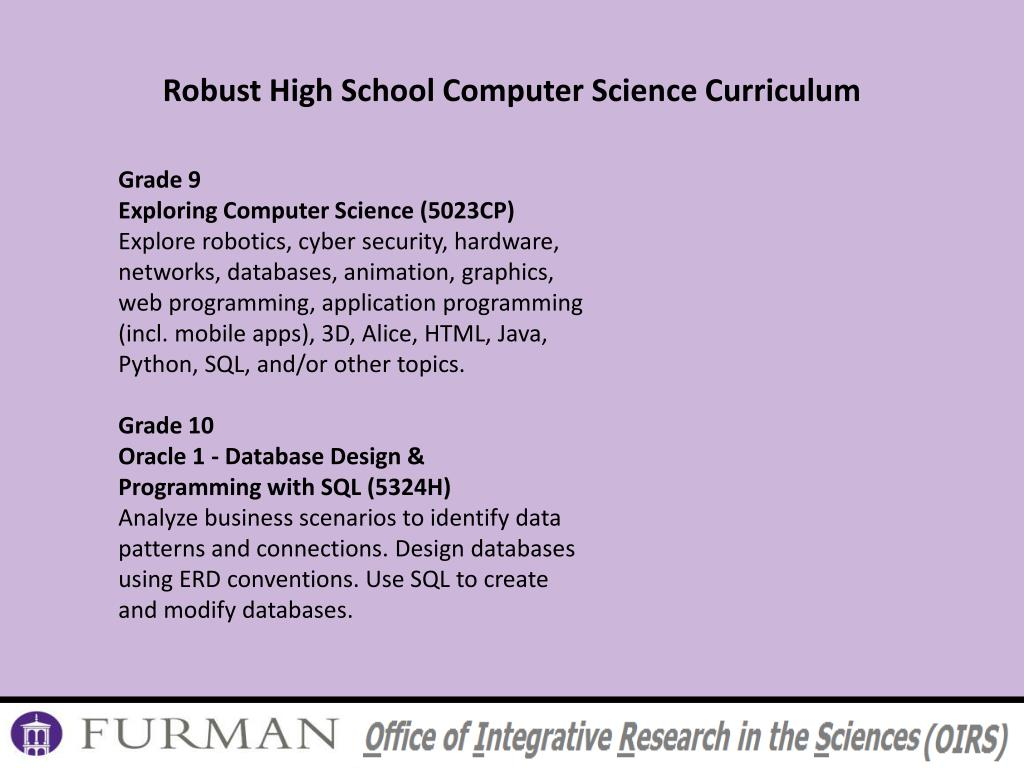 PPT - Computer Science Units : What meets this requirement