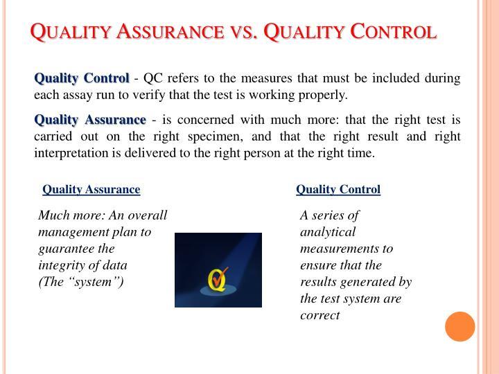 Ppt qc in biochemistry powerpoint presentation id4830802 quality assurance vs quality control toneelgroepblik Choice Image