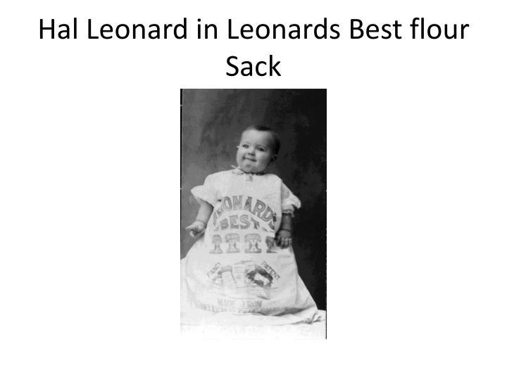 Hal Leonard in Leonards Best flour Sack