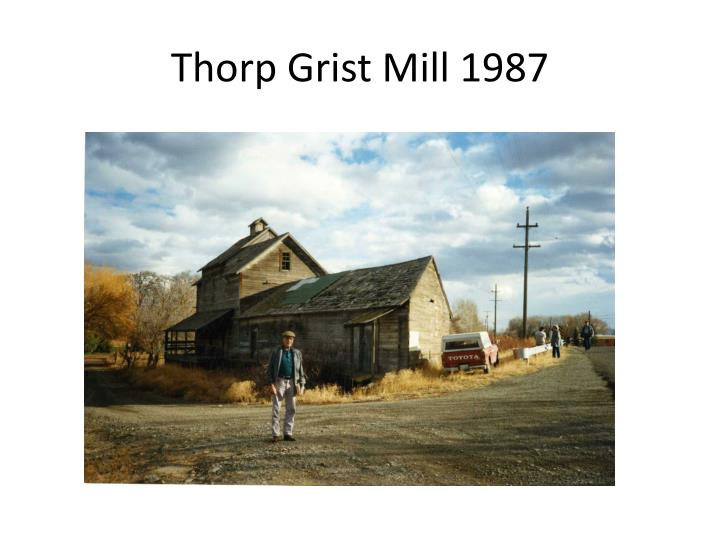 Thorp Grist Mill 1987
