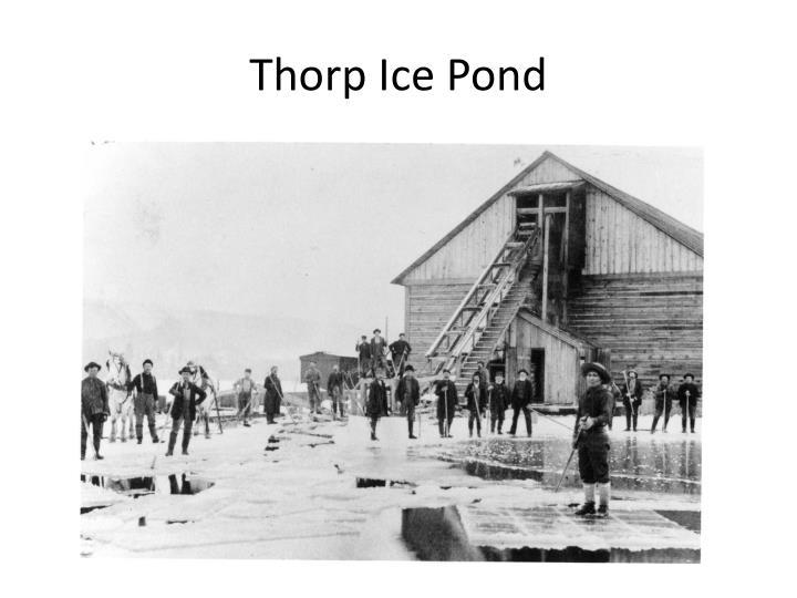 Thorp Ice Pond