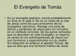 el evangelio de tom s