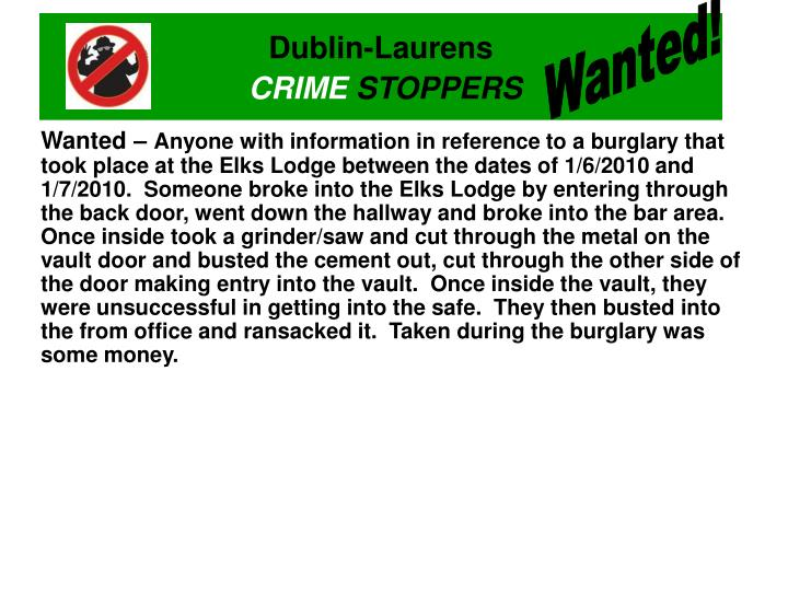 Wanted!