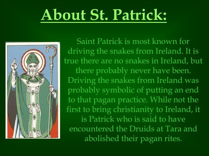 About St. Patrick: