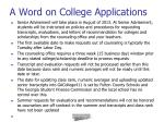 a word on college applications