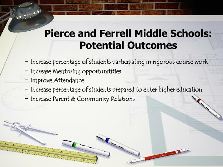 Pierce and Ferrell Middle Schools: