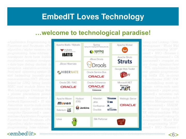 EmbedIT Loves Technology