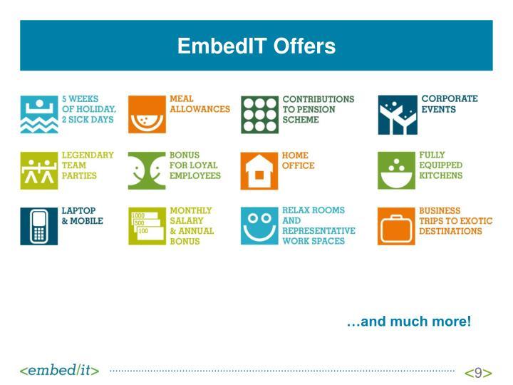 EmbedIT Offers