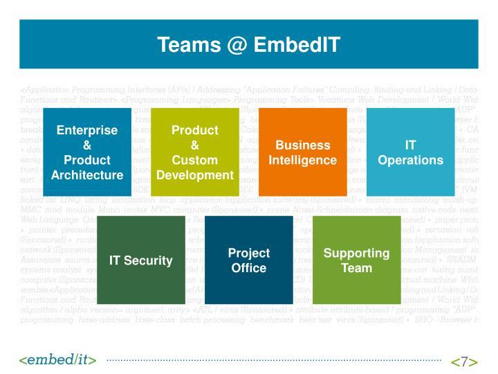 Teams @ EmbedIT