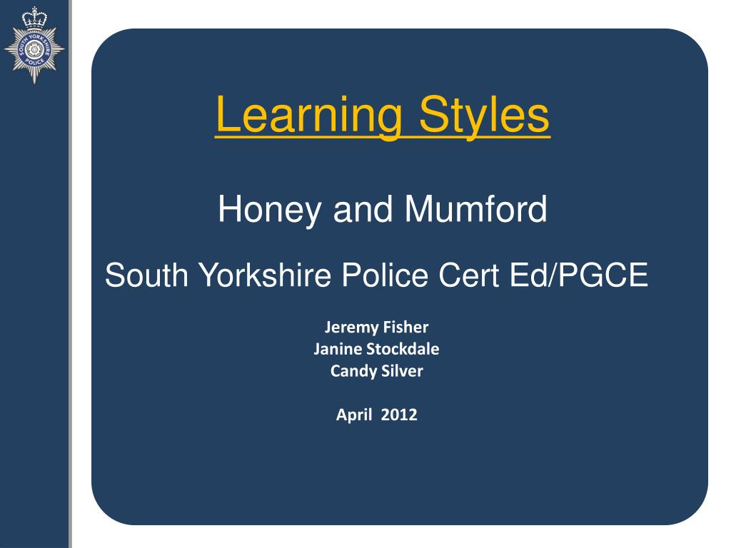 honey and mumford learning styles reference