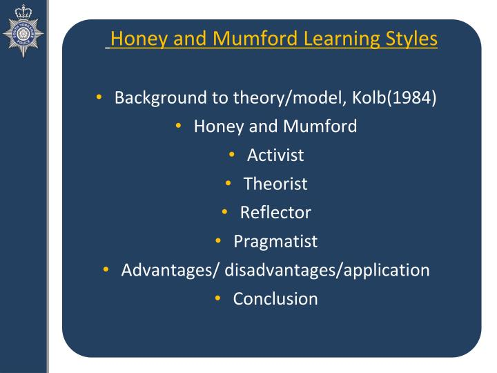mumford learning styles