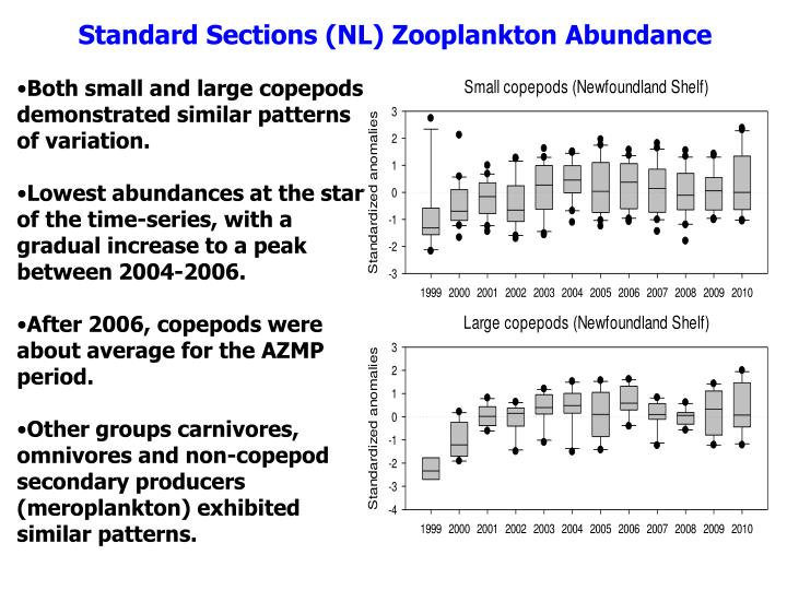Standard Sections (NL) Zooplankton Abundance