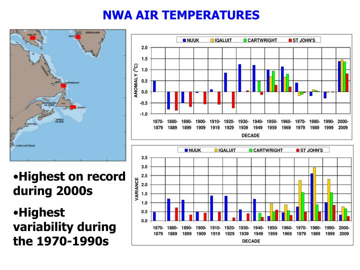 NWA AIR TEMPERATURES