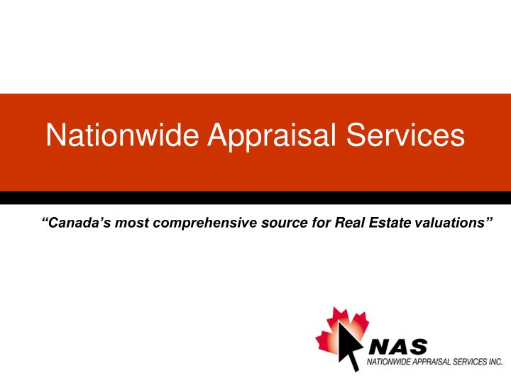 Canada s most comprehensive source for real estate valuations