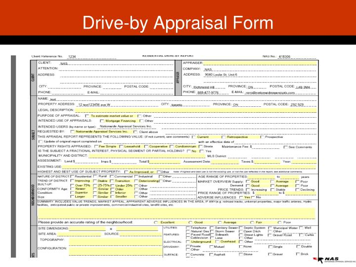 Drive-by Appraisal Form