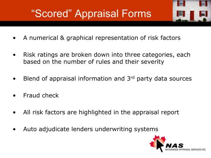 """Scored"" Appraisal Forms"
