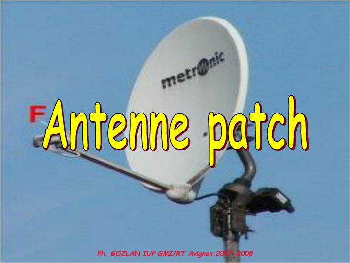 Antenne patch