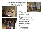 children are special celebrations
