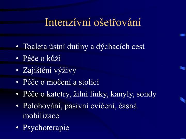 Intenzívní ošetřování