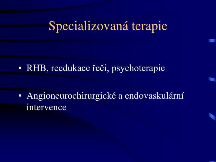 Specializovaná terapie