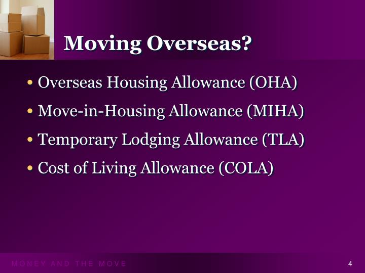 Moving Overseas?