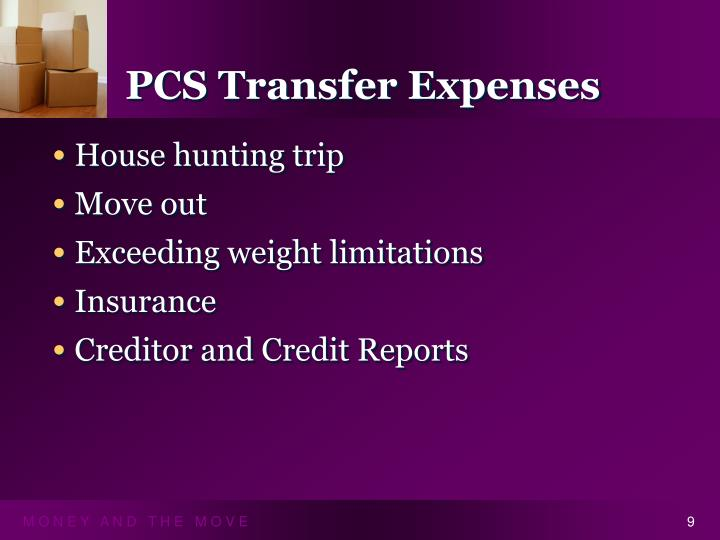 PCS Transfer Expenses
