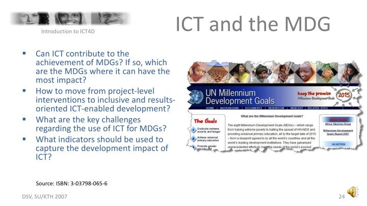 ICT and the MDG