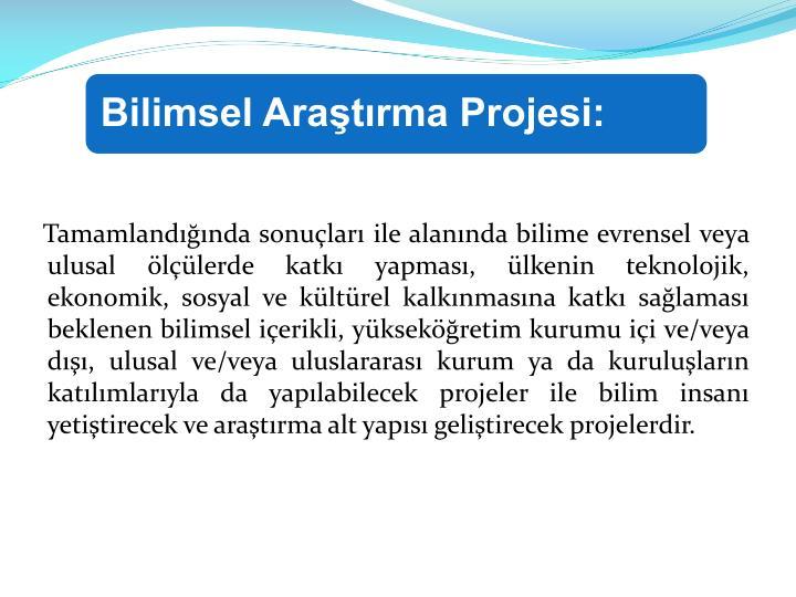 Bilimsel Araştırma Projesi:
