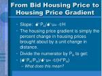 from bid housing price to housing price gradient