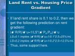 land rent vs housing price gradient