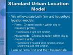 standard urban location model