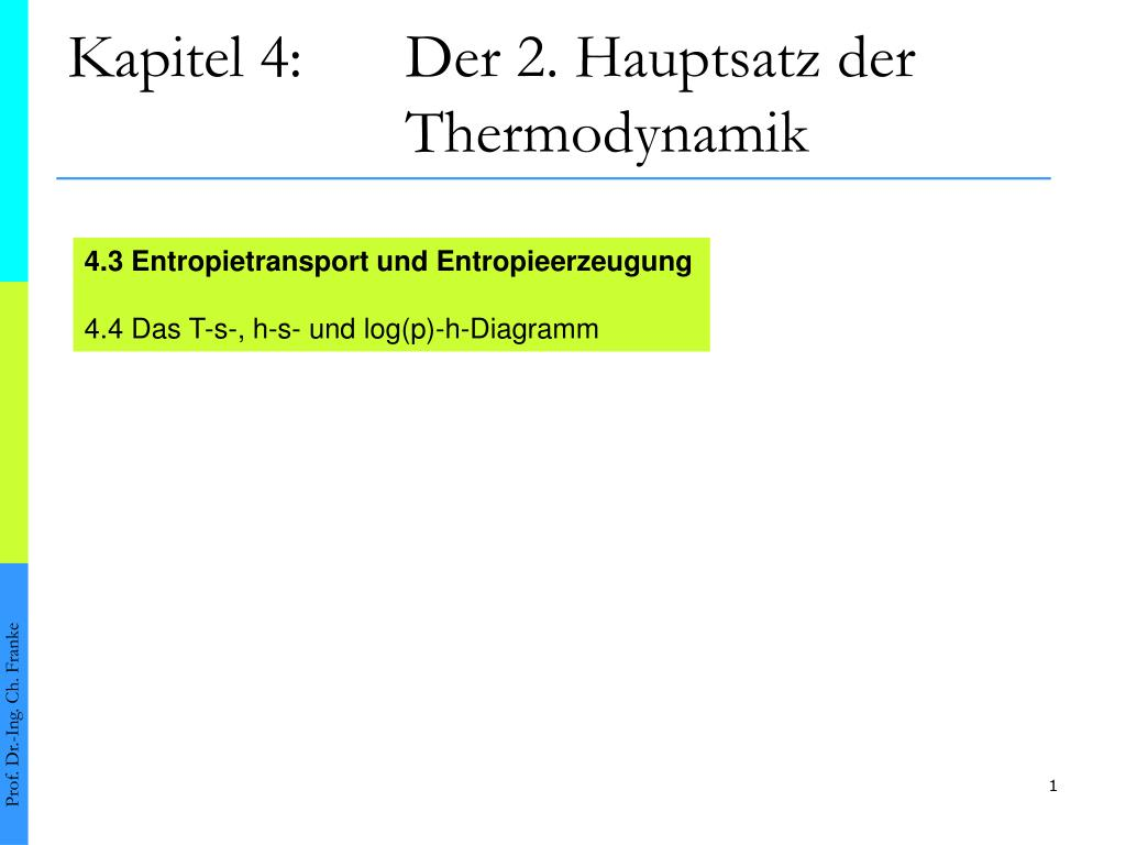 Kapitel 4 Der 2 Hauptsatz Thermodynamik N