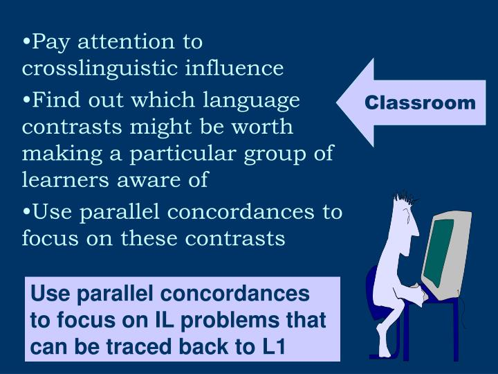 Pay attention to crosslinguistic influence