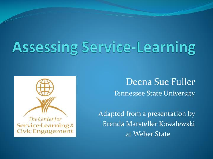 Assessing service learning