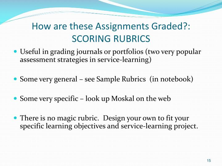 How are these Assignments Graded?: