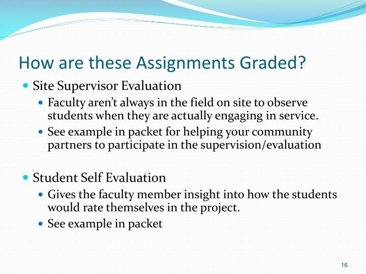 How are these Assignments Graded?