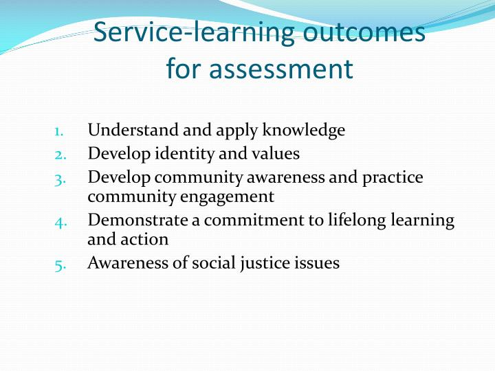 Service-learning outcomes